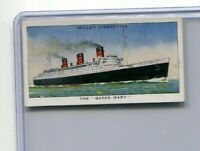 1938 W.D. & H.O. WILL'S CIGARETTES SPEED COLLECTOR CARD #37 THE QUEEN MARY