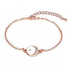 Strand Bracelet with Crystal Disc - Made with Swarovski Crystals - New In Box