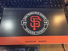 2016 SAN FRANCISCO GIANTS SEASON TICKET BOOK STUBS VIN SCULLY LAST GAME