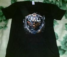 Zelda Trifuerza Escudo en Negro Camiseta Talla L, enlace, Nintendo