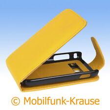 FLIP Case Astuccio Custodia Cellulare Borsa Astuccio Per Samsung gt-s6102b/s6102b (giallo)