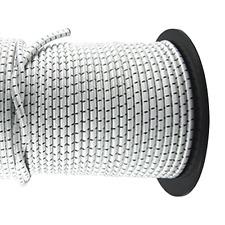 20m Expanderseil mit PP Mantel Ø 8mm weiß//bl.Gummiseil