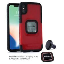 RokForm iPhone X Socket Case Red with Car Vent Mount 303808