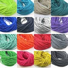 2.5 MM ELASTICATED COLOURED CORD *39 COLOURS* ELASTIC CORDING TRIMMING CRAFTS