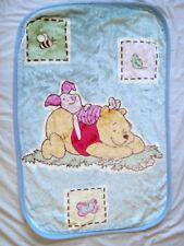 Disney Winnie The Pooh 30x45 Acrylic Piglet Butterfly Bee Leaf Soft Baby Blanket