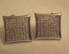 10K Gold Diamond  Earrings  Dia=1.28 Carats  SI2-F  15X15 MM