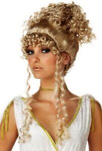 Athenian Goddess Greek Athena Blonde Women Costume Wig