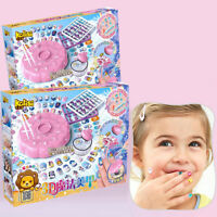 DIY 3D Nail Art Fashion  Kids Beauty Game Pretend Play Toys Makeup Set