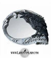 Alchemy Nevermore Skull Poe Raven Compact Mirror V27