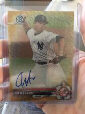 CHANCE ADAMS 2017 Bowman Chrome GOLD SHIMMER Refractor Autograph #32/50 Yankees