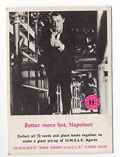 scanlens Australien The Man from UNCLE original 1960s Jahre Sammelkarte #39