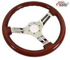 1968 - 1982 Steering Wheel. Mahogany/Chrome 3 Spoke - X2544