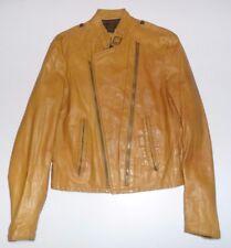 Vintage Reed Sportswear Leather Punk Biker Jacket Unique Style & Color Sz M