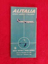 Dépliant 1960/horaires Cie aerienne ALITALIA Italienne/agence PONS