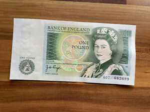 £1 J B PAGE ONE POUND NOTE UNCIRCULATED A07 682899