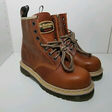 Dr. Martens Icon 7B10 Steel Toe Work Boots Brown Mens Size 7/ Womens size 8