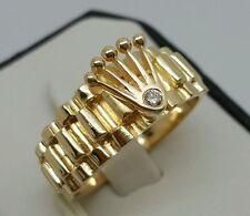 Natürliche exzellent geschliffene Ringe aus Gelbgold mit Diamanten