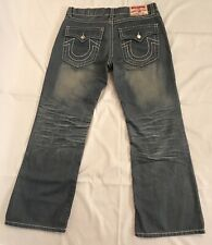"True Religion Billy Super T Jeans Mens Sz 38 (39""W x 32""L measured) Gray Bootcut"