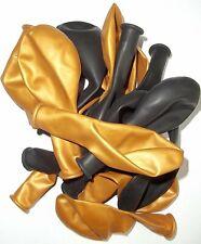 50 große schwarz gold metallic Luftballon Ballon Dekoration Geburtstag Idee