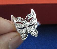 Wholesale 5pcs Hot Jewelry Silver Fashion Style Butterfly Women's Rings#7-8