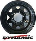 "DYNAMIC Steel Black Sunrasia 15x7"" 6x139.7 Steel Rim"