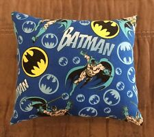 "Beautiful Handmade Fleece Batman Accent - Throw Pillow  10"" x 8"""