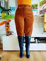 Damen  Lederhose Lederjeans Lederpants  TOP. Gr.42