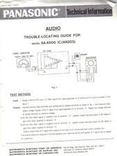 PANASONIC SERVICE MANUAL FOR SA-6500 TROUBLE LOC GUIDE