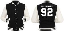Delevingne 92 College Vest Girls Black Collegejacke Cara It Girl Blogger Rihanna