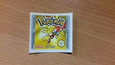 Gameboy Pokemon Gold Replacement Label Decal Sticker Nintendo Cartridge