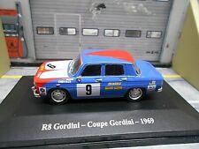 RENAULT 8 R8 Gordini Coupe 1968 #9 elf devil Racing Rallye Hachette Eligor 1:43