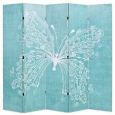 vidaXL Folding Room Divider 200x170cm Butterfly Blue Paravent Privacy Screen