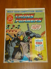 TRANSFORMERS BRITISH WEEKLY #232 MARVEL UK COMIC 1989 WITH FREE GIFT<