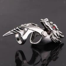 Gothic Punk Mens Dragon Ring Full Finger Knuckle Armor Finger Rings