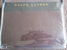 RALPH LAUREN SUPER KING SIZE DUVET SET IN RADCLIFFE SATIN CHOCOLAT