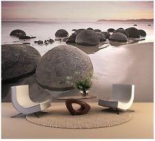 Murale Géante papier-peint photo 366x254cm Géant Rond pierres sur la plage décor