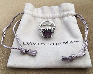 🔹 STUNNING 🔹 GENUINE DAVID YURMAN PURPLE AMETHYST INFINTY SIZE 8.5 RING