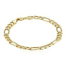 "Eternity Gold Men's Figaro Chain Link Bracelet in 10K Gold, 8.5"""