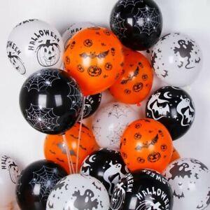 "20 x 12"" Assorted Halloween Latex Balloons Helium Party Balloon Decorations UK"