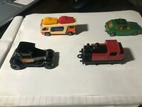 Matchbox Die Cast group of 4 Cars, 1978 Transporter, Steam Loco, 1976 #7 and 197