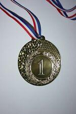 """Médaille  """" Or """" NUMÉRO 1 Doré avec ruban diamètre 70 mm poids 50 gr"""