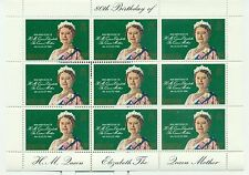H.M. QUEEN ELIZABETH MOTHER 80th BIRTHADAY - GIBRALTAR 1980 sheetlet