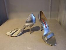 Gianmarco Lorenzi EU 39.5 Fab Silver Party Diamante Killer Heels Shoes Sandals