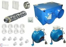 8 or 4 Room Whole House Heat Recovery Kit Bathroom Shower Extract Supply 75%
