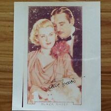 "Claire Trevor SIGNED 8x10 Photo  ""Queen of Film Noir""  Black Sheep 1935"