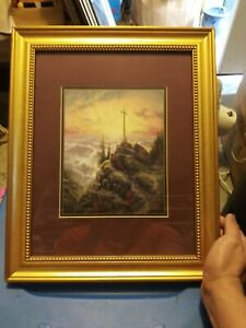 Thomas Kinkade's Sunrise - Faith Series Picture - Frame 16.5x13.5 Picture 8.5x7
