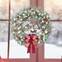 Christmas Stickers Christmas Wreath Decorations Wall Window Stickers Ornaments