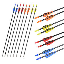 "28"" Fiberglass Archery Target Arrows Practice Training or Youth Arrow Recurvebow"