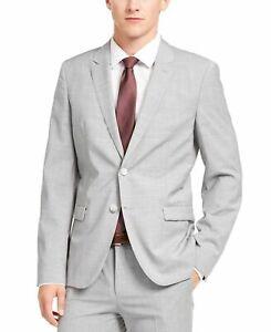 Hugo Boss Mens Suit Jacket Light Gray Size 38 Regular Two-Button Wool $495 #194
