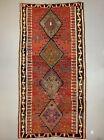 Vintage Turkish Kilim 331x168 cm wool kelim rug Large Red, Green, Black, Brown